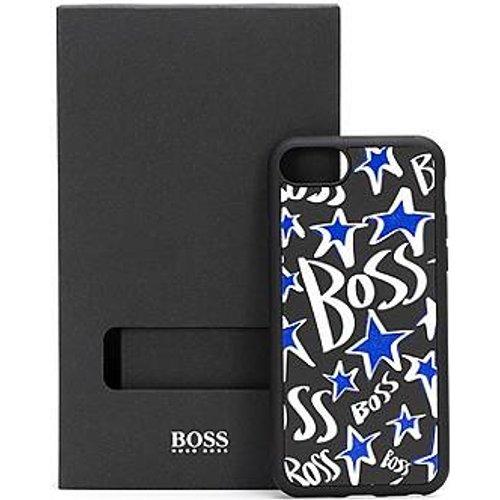 Coque pour iPhone en cuir italien avec étoiles et logos - Boss - Modalova