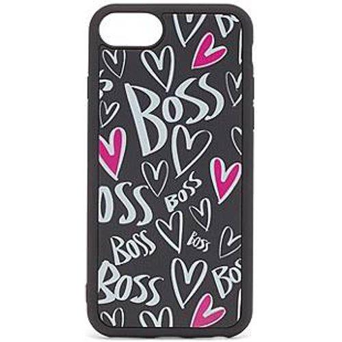 Coque pour iPhone avec cœurs et logos imprimés - Boss - Modalova