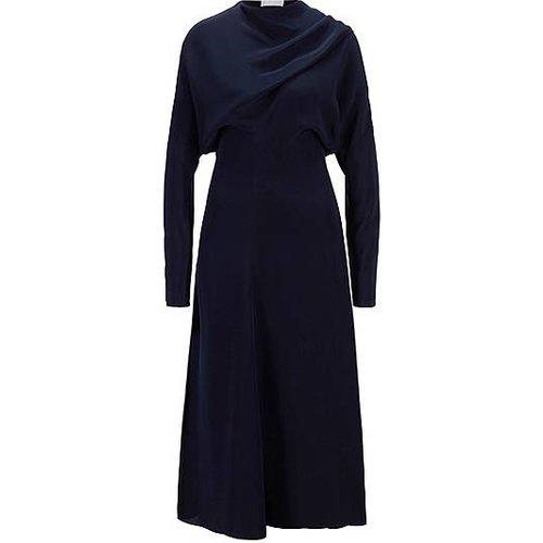 Robe longue en pure soie à lavallière - Boss - Modalova