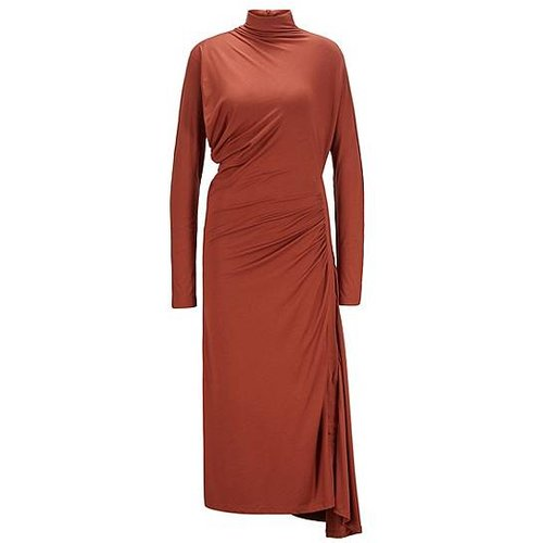 Robe longue en jersey stretch à base asymétrique - Boss - Modalova
