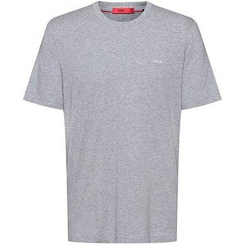 T-shirt en coton à logo inversé brodé - HUGO - Modalova