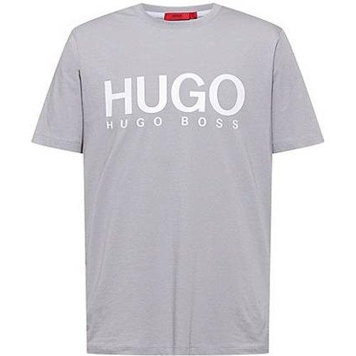 T-shirt à col rond en jersey de coton avec logo imprimé - HUGO - Modalova