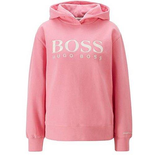 Sweat à capuche Relaxed Fit en molleton avec logo sur la poitrine - Boss - Modalova