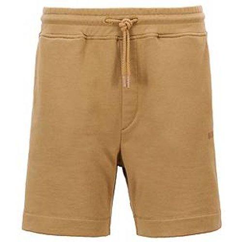 Pantalon de survêtement en molleton de coton mélangé à logo imprimé - Boss - Modalova