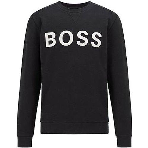 Sweat en coton mélangé à logo imprimé floqué - Boss - Modalova