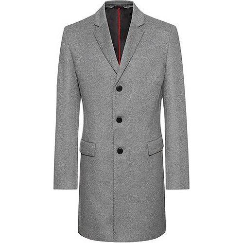 Manteau Slim Fit en laine mélangée à du cachemire - HUGO - Modalova