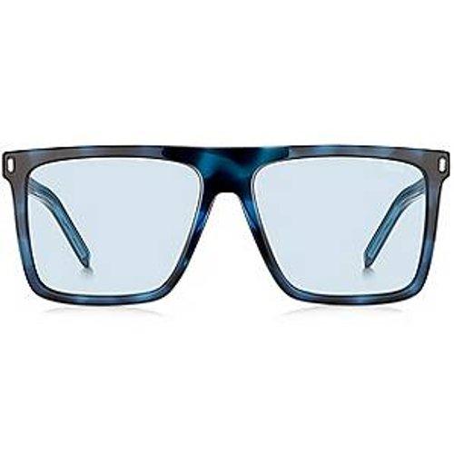 Lunettes de soleil bleues avec verres miroir à clips - HUGO - Modalova