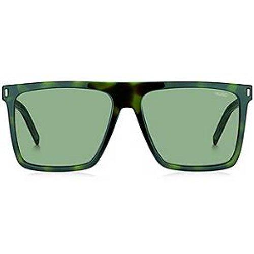 Lunettes de soleil en acétate vert avec verres miroir à clips - HUGO - Modalova