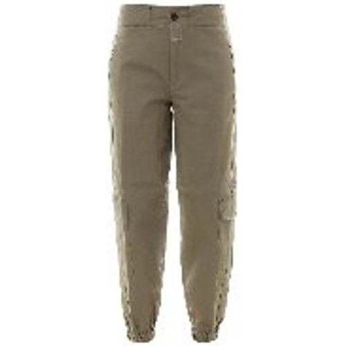 Pantalons Decontractes - Vert Fonce - closed - Modalova