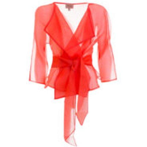 Blazer Ajustee Rouge Pour Femme - Armani Collezioni - Modalova
