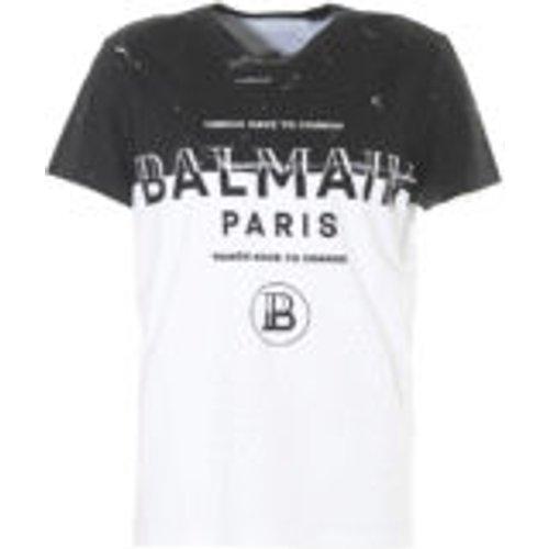 T-Shirt - Bicolore - Balmain - Modalova