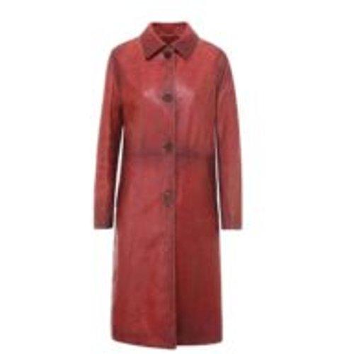 Manteau En Cuir - Rouge - Golden Goose - Modalova