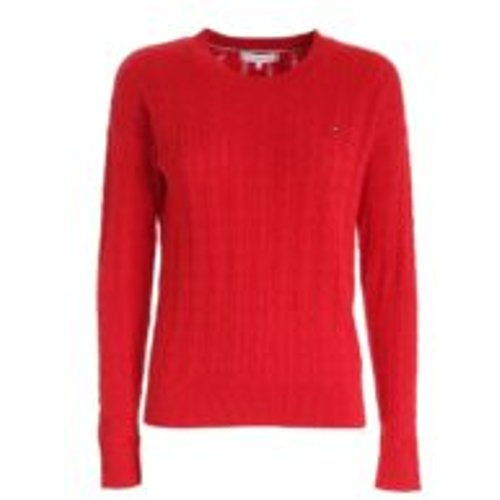 Pull Col Rond - Rouge - Tommy Hilfiger - Modalova