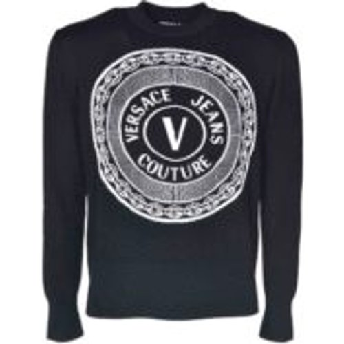 Pull Col Rond - Noir - Versace Jeans Couture - Modalova