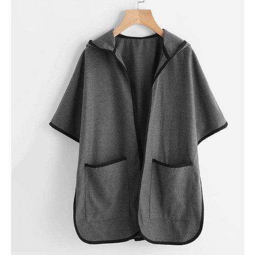 Veste poncho à capuche avec poches - SHEIN - Modalova