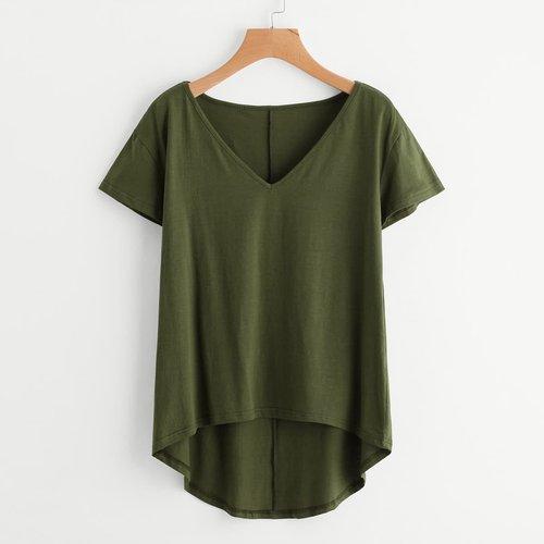 T-shirt uni asymétrique - SHEIN - Modalova