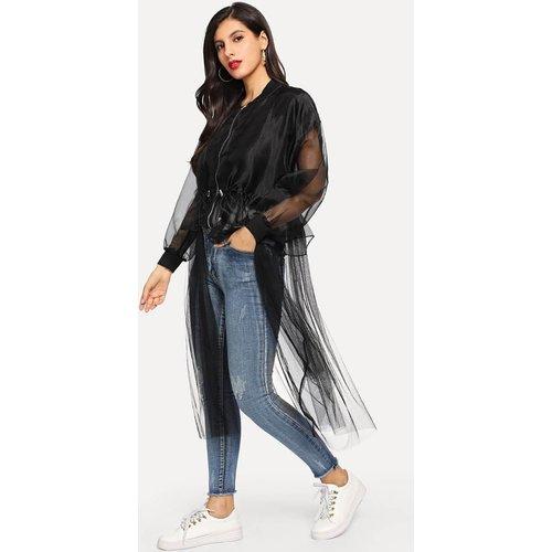 Veste longue transparente zippée - SHEIN - Modalova