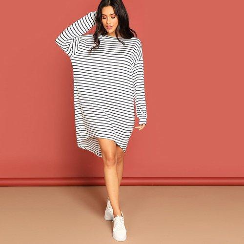 Robe T-shirt rayée - SHEIN - Modalova