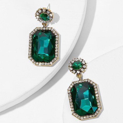 Boucles d'oreilles en pierres précieuses contrastées 1 paire - SHEIN - Modalova