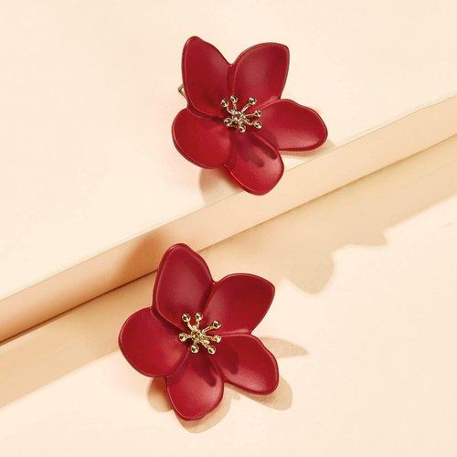 Clous d'oreilles avec détail de fleur 1 paire - SHEIN - Modalova