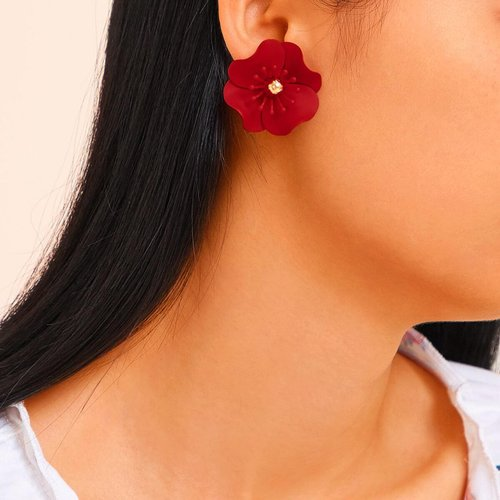 Clous d'oreilles en forme de fleur 1 paire - SHEIN - Modalova