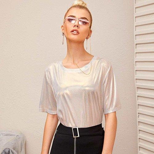 T-shirt transparent métallique - SHEIN - Modalova