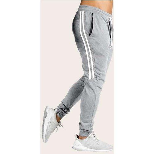 Pantalon de survêtement avec cordon et rayures - SHEIN - Modalova