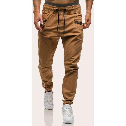 Pantalon à détail camouflage avec cordon à la taille - SHEIN - Modalova
