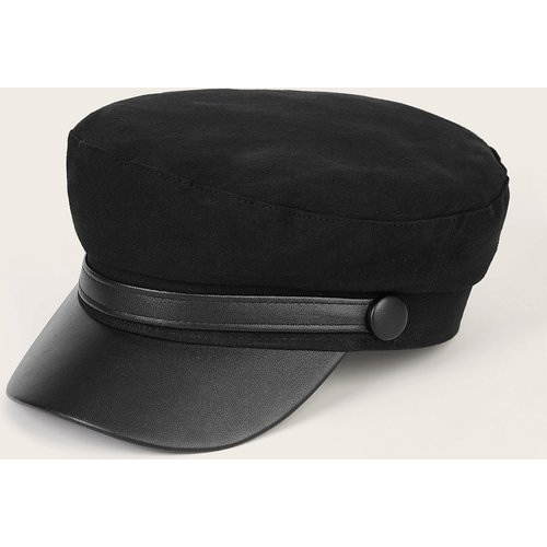 Casquette gavroche à ceinture en cuir PU - SHEIN - Modalova