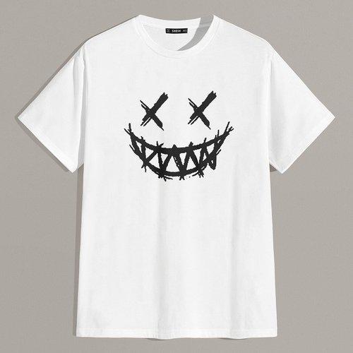 T-shirt à imprimé graphique - SHEIN - Modalova
