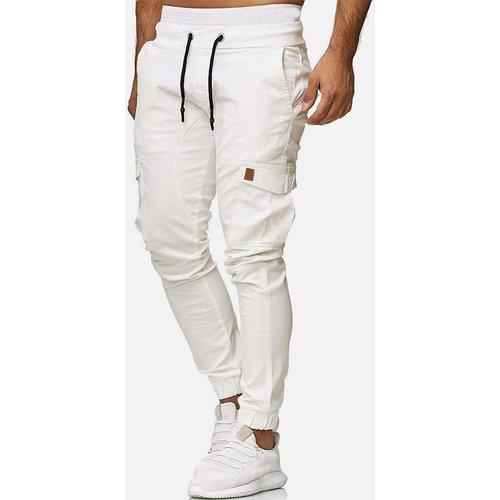 Pantalon cargo avec cordon à la taille - SHEIN - Modalova