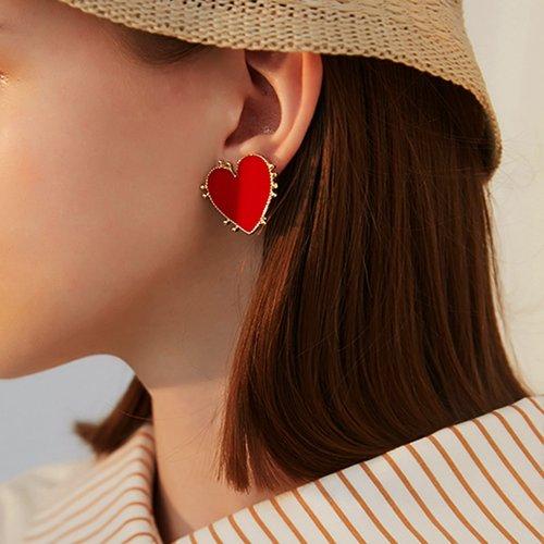 Clous d'oreilles design cœur 1 paire - SHEIN - Modalova