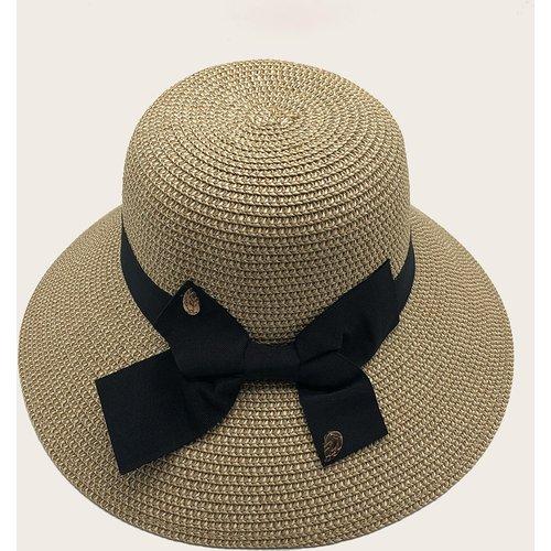 Chapeau à paille avec nœud - SHEIN - Modalova