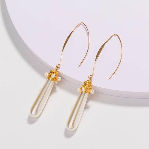Paire Boucles d'oreilles avec fausse perle - SHEIN - Modalova