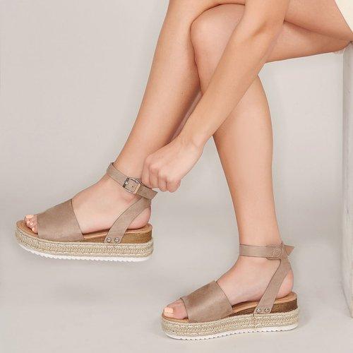 Sandales espadrilles à bride de cheville - SHEIN - Modalova