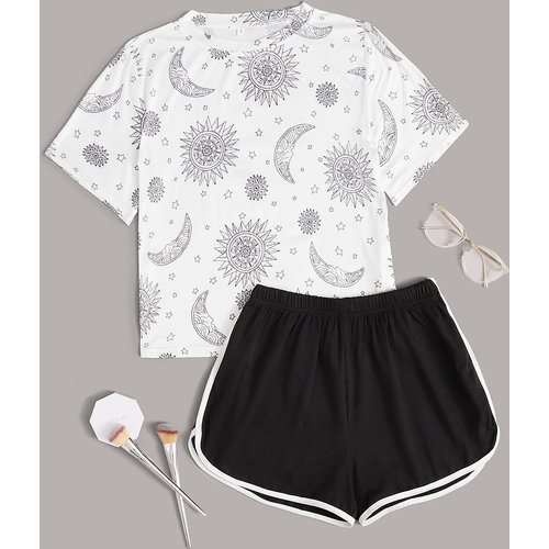 Ensemble de pyjama t-shirt & short - SHEIN - Modalova