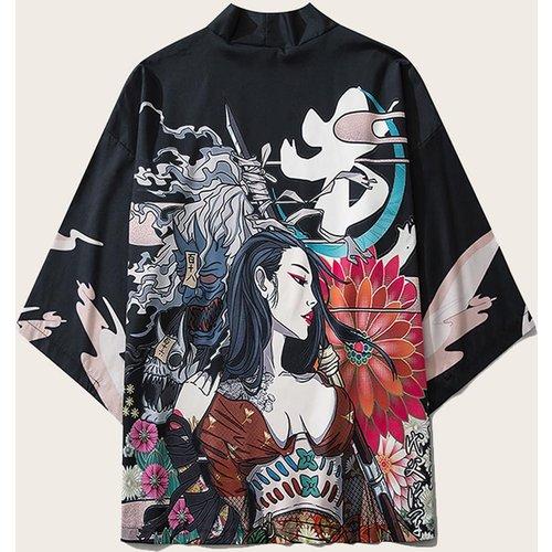 Kimono à imprimé floral - SHEIN - Modalova