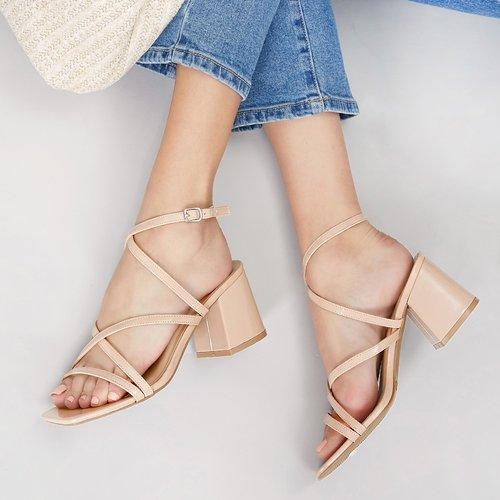 Sandales à talons carrés à bride arrière - SHEIN - Modalova