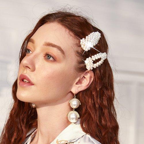 Pièces Pince à cheveux avec perles - SHEIN - Modalova