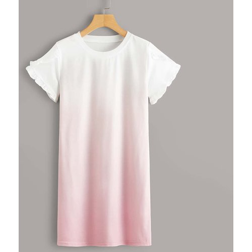 Robe t-shirt dégradé - SHEIN - Modalova