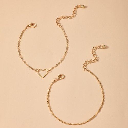 Pièces Bracelet décoré cœur - SHEIN - Modalova