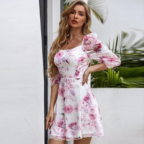 Robe fleurie - SHEIN - Modalova