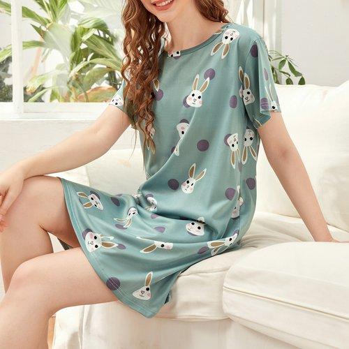 Robe de nuit à imprimé - SHEIN - Modalova