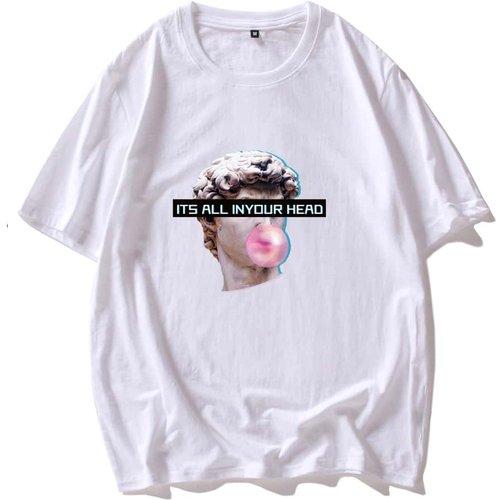 T-shirt à motif sculpture - SHEIN - Modalova