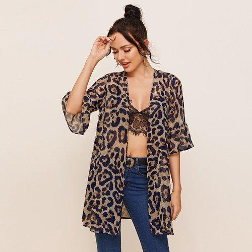 Kimono léopard - SHEIN - Modalova