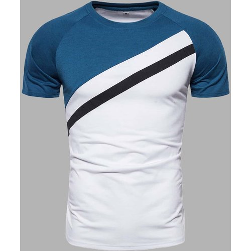 T-shirt avec pièces et manches raglan - SHEIN - Modalova