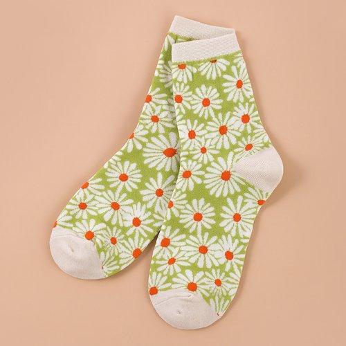 Chaussettes à motif fleur - SHEIN - Modalova