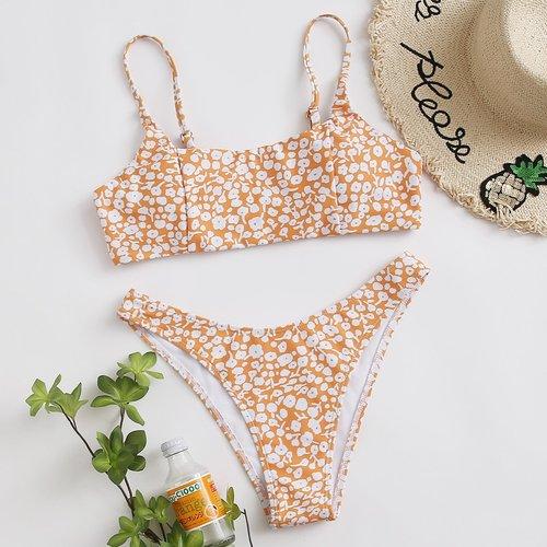 Bikini à imprimé marguerite - SHEIN - Modalova