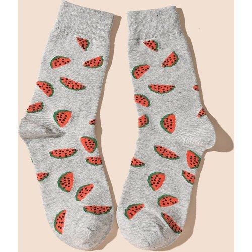 Chaussettes à motif pastèque - SHEIN - Modalova