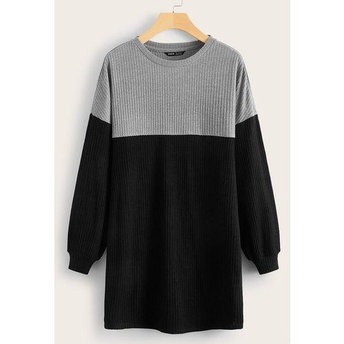 Robe t-shirt bicolore - SHEIN - Modalova